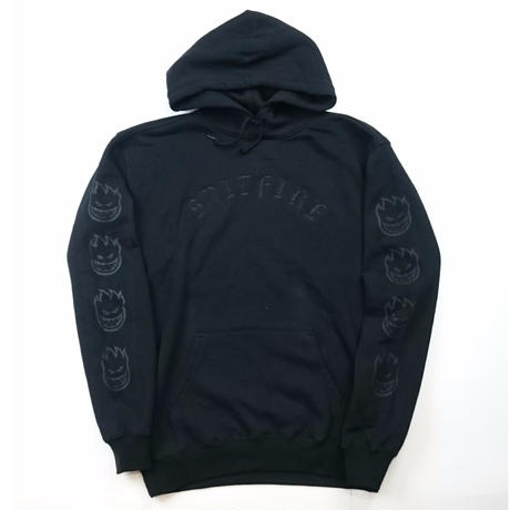SPIT FIRE EMB PULLOVER HOODIE BLACK