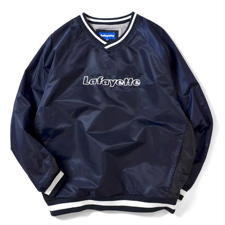LAFAYETTE NYLON V-NECK WINDBREAKER JACKET-NAVY