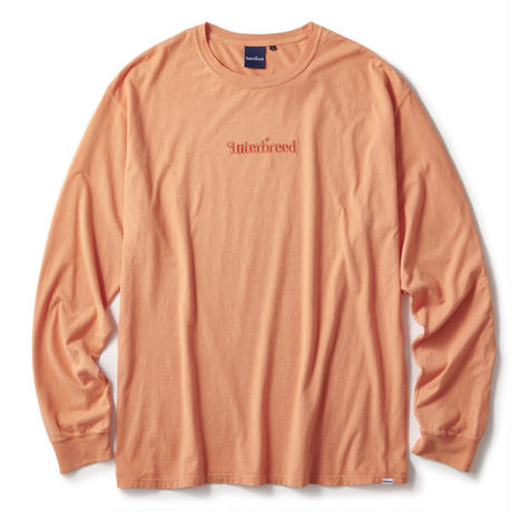 INTERBREED ARCHIVE LOGO PIGMENT L/S TEE-ORANGE
