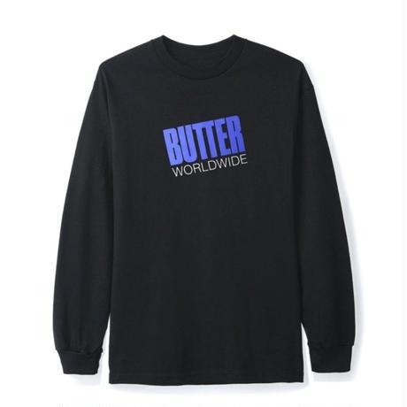 BUTTER GOODS TILT L/S TEE-BLACK