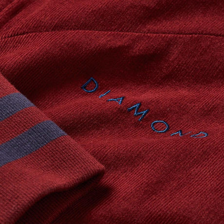 DIAMOND  FUTURA CORDUROY TRACK JACKET-BURGUNDY