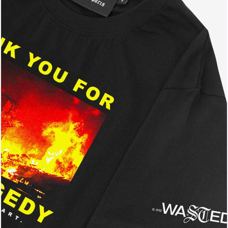 WASTED PARIS THANK YOU TEE-BLACK