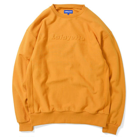 LAFAYETTE EMBOSS LOGO US COTTON CREWNECK SWEATSHIRT-YELLOW