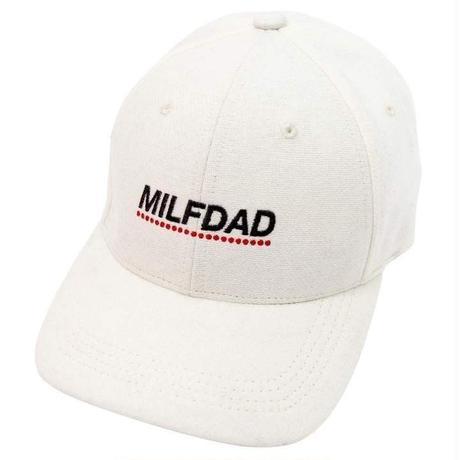MILFDAD LOGO 6-PANEL CAP-WHITE