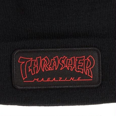 THRASHER CHINA BANKS BEANIE-BLACK