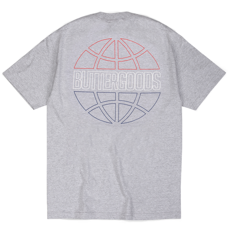 BUTTER GOODS COMMONWEALTH OUTLINE TEE      HEATHER GREY