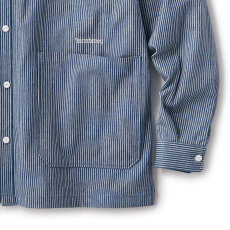 INTERBREED PATTERNED STANDCCOLLAR SHIRTS-HICKORY