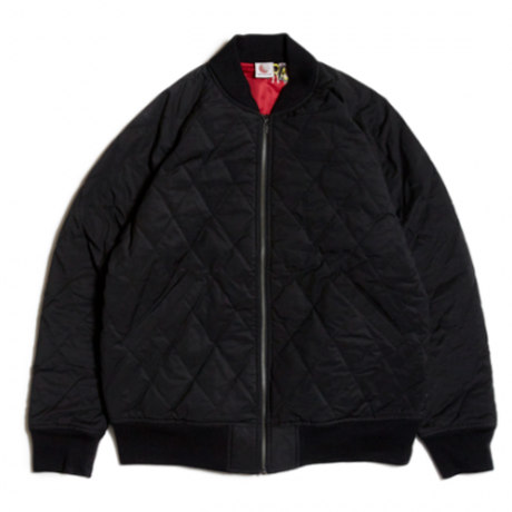 HELLRAZOR NYLON QUILTED MA1 JACKET  BLACK