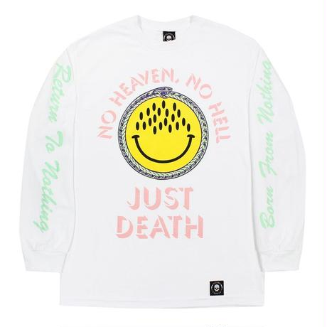 FLYING COFFIN JUST DEATH L/S TEE    WHITE