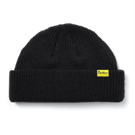 BUTTER GOODS WHARFIE BEANIE-BLACK