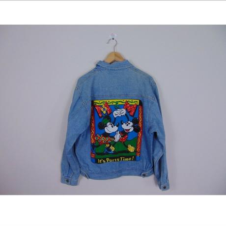 Disney Vintage Mickey & Minnie Denim Jacket ディズニー ヴィンテージ ミッキー&ミニー デニムジャケット