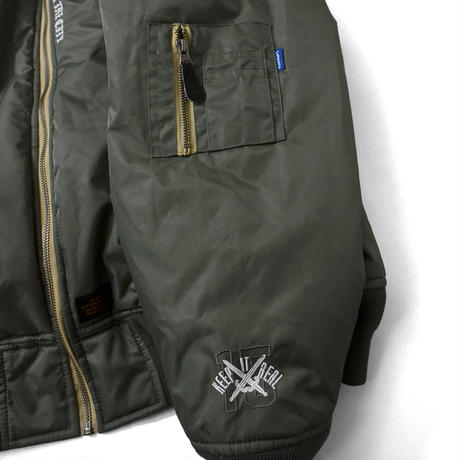 【Lafayette】OLD GLORY ALLOVER PATCH FLIGHT JACKET