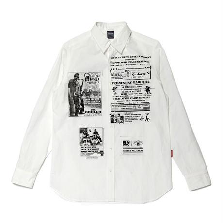 【APPLEBUM】 Old School Flyer Print Shirt