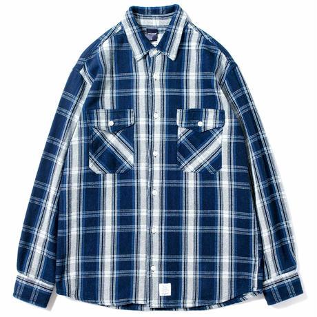 【APPLEBUM】Indigo Check Nel Shirt