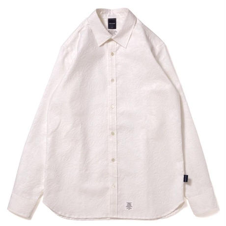 【APPLEBUM】Botanical Emboss Shirt [White]