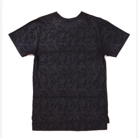 【APPLEBUM】Botanical Emboss Long T-shirt [black]