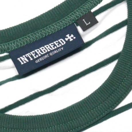 【INTERBREED】2TONE BORDER TEE(GREEN)