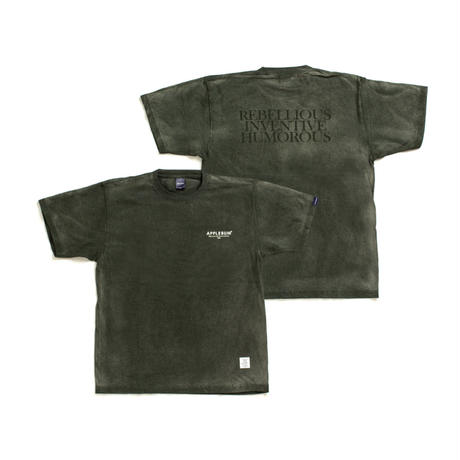 【APPLEBUM】Bleach T-shirt [Green]