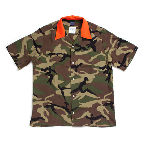 【APPLEBUM】Camo Aloha S/S Shirt [Woodland]