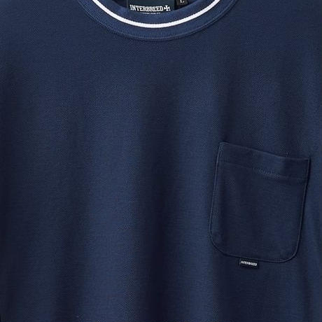 【INTERBREED】IB SPORTS DIVIDED SS TEE(NAVY)