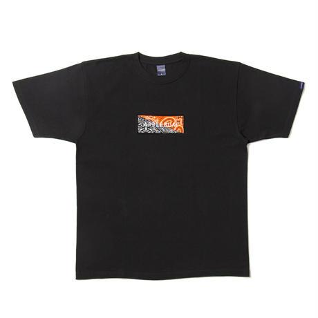 【APPLEBUM】Bandanna Box Logo T-shirt [Black/Orange&Black]