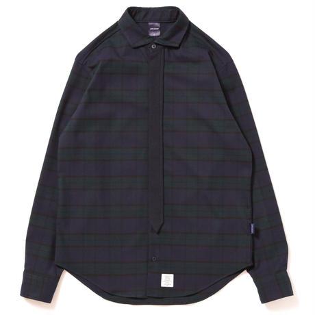 【APPLEBUM】Blackwatch Necktie-Gimmick Shirt