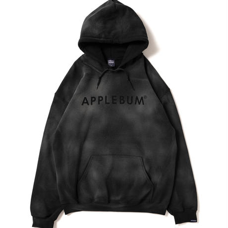 【APPLEBUM】Bleach Sweat Parka [Black]