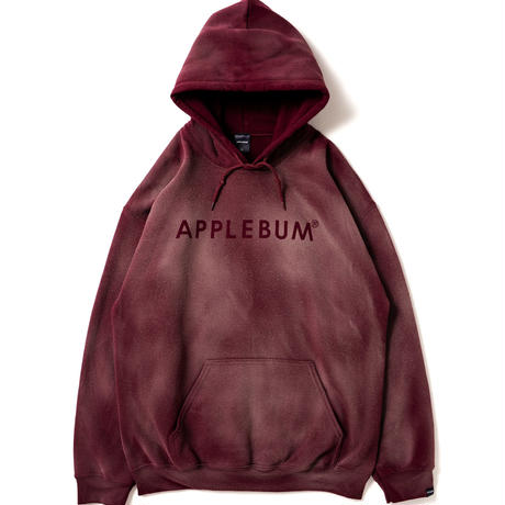 【APPLEBUM】Bleach Sweat Parka [Maroon]