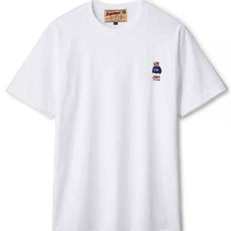 【INTERBREED】USA BEAR EMBROIDERED SS TEE(WHITE)