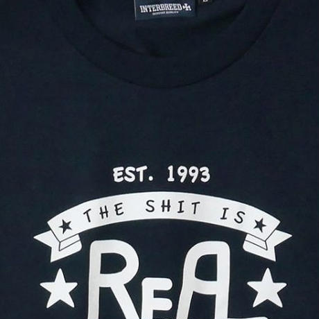 "【INTERBREED】RE-DESIGN SERIES ""SHIT IS RL SS TEE""(NAVY)"