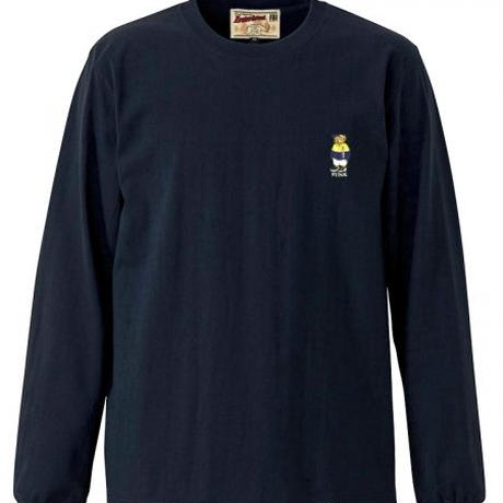【INTERBREED】SPORTS BEAR EMBROIDERED LS TEE(NAVY)