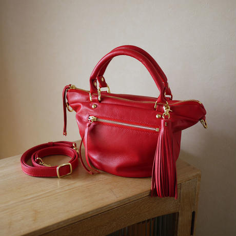 Mini tote bag / Red