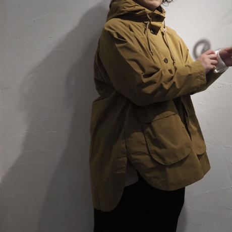 tumugu / コットンナイロンダンプフードビッグジャケット / TB21329