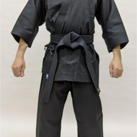 拳王印 空手着 セット(上・下) Karate-Gi SET(Jacket・Pants)黒太綾 Black Futoaya SIZE6