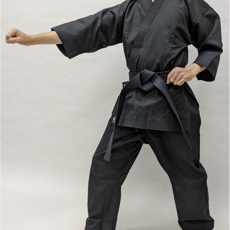 拳王印 空手着 セット(上・下) Karate-Gi SET(Jacket・Pants)黒太綾 Black Futoaya SIZE3