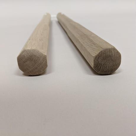 樫ヌンチャク(丸角/45cm/紐) Nunchaku(Oak/Maru-kaku/45cm/Rope)