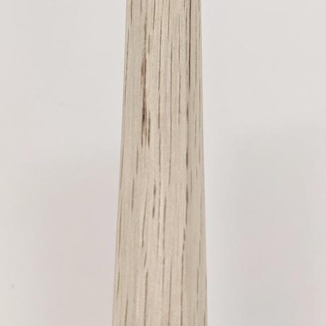 白樫木刀 鍔、鞘付(剣峰蛤帽子/脇差)Wakizashi Bokuto (White oak) with Tsuba  & Saya