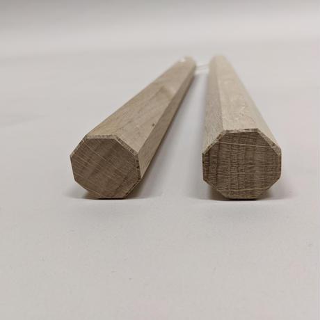 樫ヌンチャク(八角/36cm/紐) Nunchaku(Oak/Hakkaku/36cm/Rope)