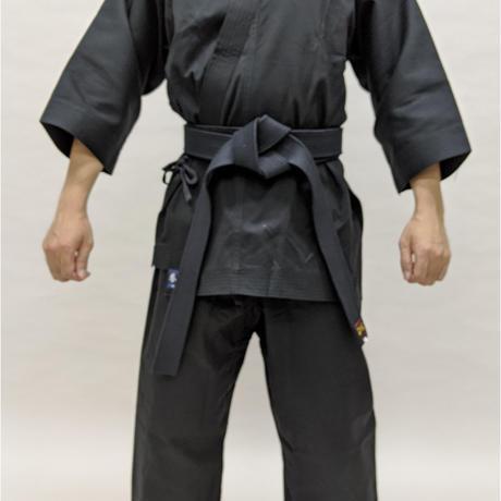 拳王印 空手着 セット(上・下) Karate-Gi SET(Jacket・Pants)黒太綾 Black Futoaya SIZE4