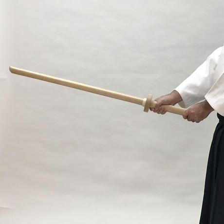 白樫 鍔付き木剣 Bokken with tsuba (White oak)
