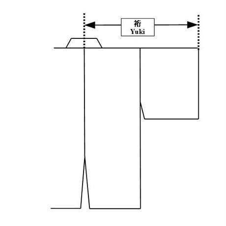黒ポリエステル 紋付着物 Black polyester Montsuki-Kimono  SIZE 3L