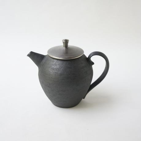 服部竜也 古銀彩茶壺