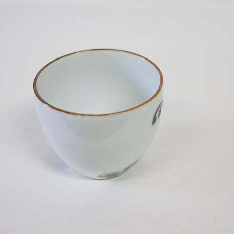 たなかふみえ 染錦菊 蕎麦猪口(フリーカップ)