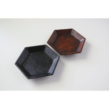 蝶野秀紀 和紙貼六角豆皿S