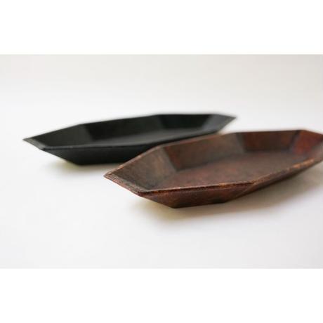 蝶野秀紀 和紙貼八角皿M