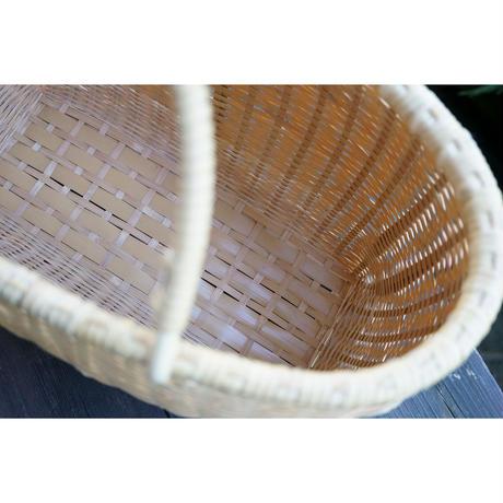 髙見八州洋 ござ目編み買い物かご小