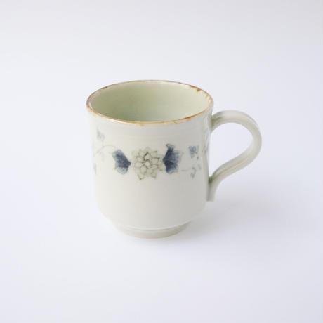 村山朋子 サビ花更紗唐草角マグカップ