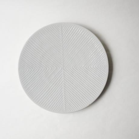 阿南 維也 白磁鎬7寸皿