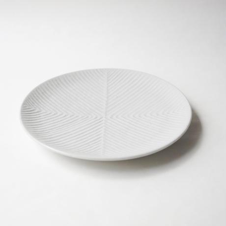 阿南 維也 白磁鎬5.5寸皿