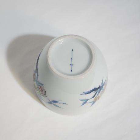 たなかふみえ 染錦三果文 蕎麦猪口(フリーカップ)